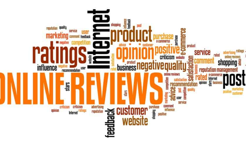 Reviews and online shopping