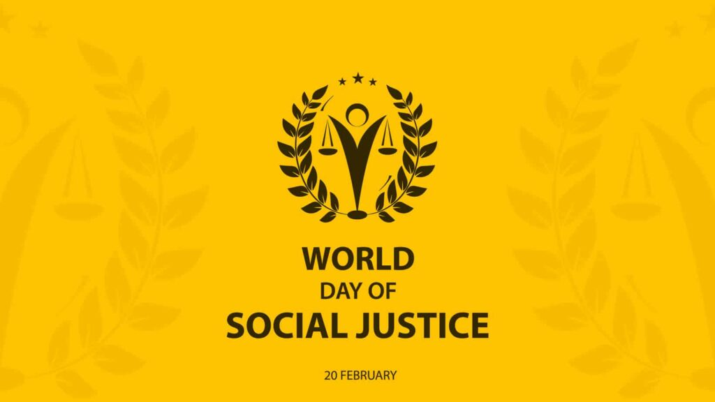 Social justice day. Equal rights for all!