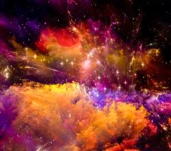 Light fractals and colors